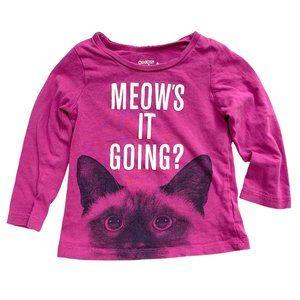 OshKosh Purple 'Meow's it Going' Long Sleeve Shirt